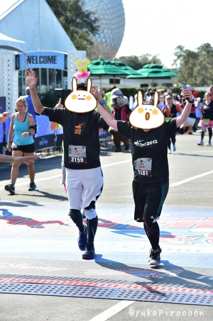 Walt Disney World Marathon Weekendゴールシーン